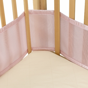 Breathable Baby Breathable Bumper for Portable & Cradle Cribs - Pink