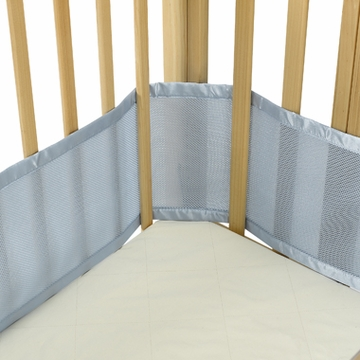 Breathable Baby Breathable Bumper for Portable & Cradle Cribs - Blue