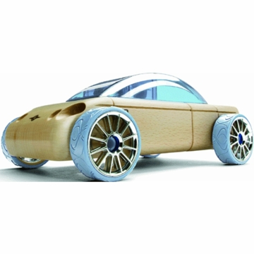 Manhattan Toy Automoblox S9 Heather Blue Mini Sedan