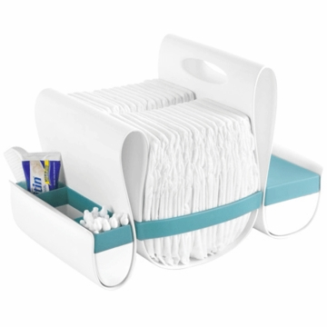Boon LOOP Diaper Caddy - Blue & White