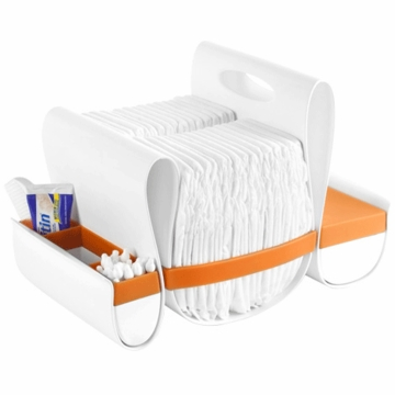 Boon LOOP Diaper Caddy - Orange & White
