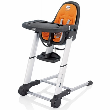 Inglesina 2013 Zuma Gray High Chair - Orange