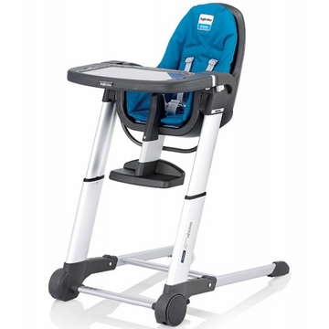 Inglesina 2011 Zuma Gray High Chair - Light Blue