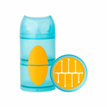 Boon OWL STACK Snack Container - Blue & Orange