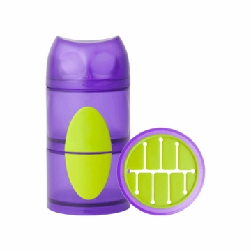 Boon OWL STACK Snack Container - Purple & Green