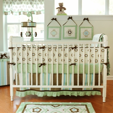 My Baby Sam Forget Me Not 4 Piece Crib Bedding Set