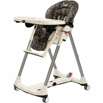 Peg Perego 2010 Prima Pappa Diner Vinyl High Chair in Naif Cacao