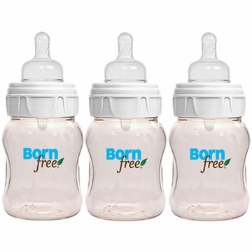 Born Free 5 Oz. Glass 3-Pack With Bonus Silicone Sleeve