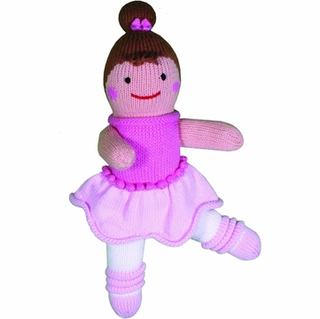 "Zubels Ballerina Bella 12"" Hand-Knit Doll"