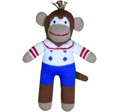 "Zubels Monkey Boy Borris 12"" Hand-Knit Doll"