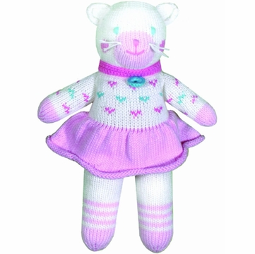 "Zubels Cat Cleo 12"" Hand-Knit Doll"