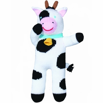 "Zubels Cow Cowleen 12"" Hand-Knit Doll"