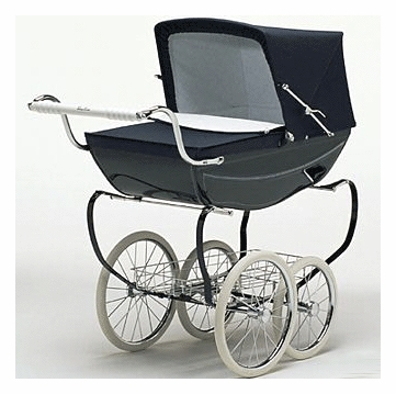 Silver Cross Oberon Doll Pram in Navy