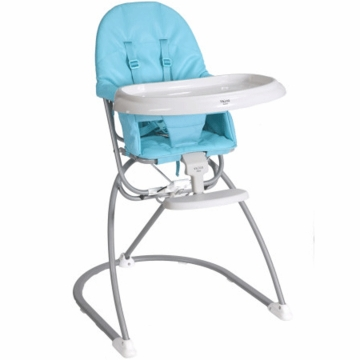 Valco Astro Compact Leatherette High Chair - Aqua