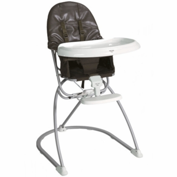 Valco Astro Compact Leatherette High Chair - Chocolate