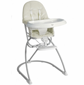 Valco Astro Compact Leatherette High Chair - Ivory