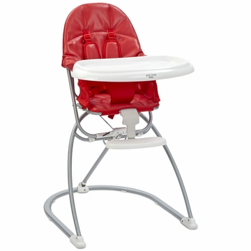 Valco Astro Compact Leatherette High Chair - Cherry