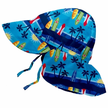 iPlay Flap Sun Protection Hat - Classics Aqua Sunset - Toddler (2-4 yrs)