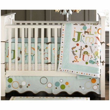MiGi Alphabet 3 Piece Crib Bedding Set