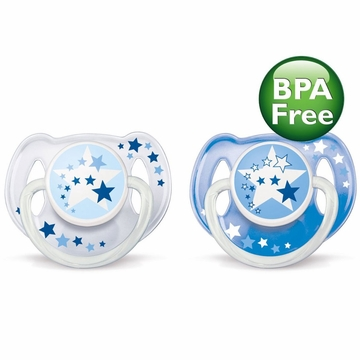 Philips AVENT Nighttime Infant Pacifier, 0-6 Months, Colors May Vary