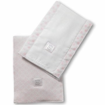 SwaddleDesigns Baby Burpie Set in Very Light Pink with Pastel Pink Circle on Circle