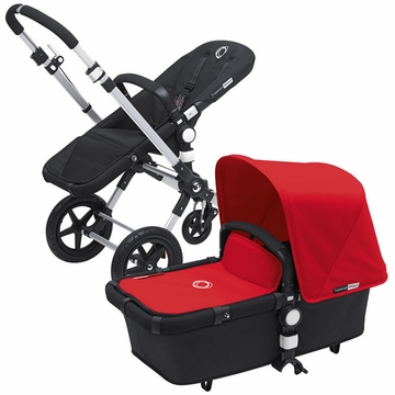 Bugaboo Cameleon 3 Bundle - Black Base / Red Fabric Set