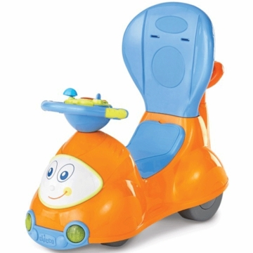 Chicco 4 in 1 Ride On Car in Orange