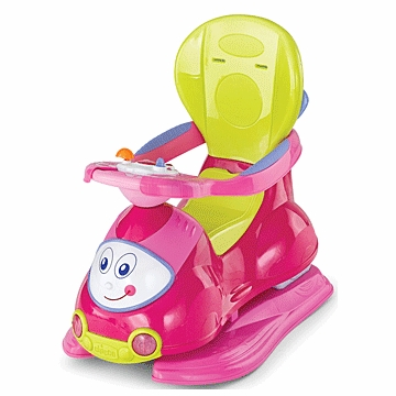 Chicco 4 in 1 Ride On Car in Pink