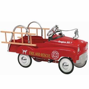 InStep Fire Truck Pedal Car Red
