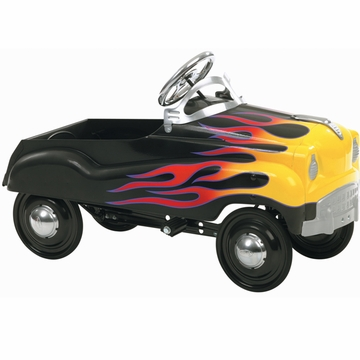 InStep Hot Rod Pedal Car Black with Flames
