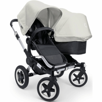 Bugaboo Donkey Duo Stroller in Black/Off-White