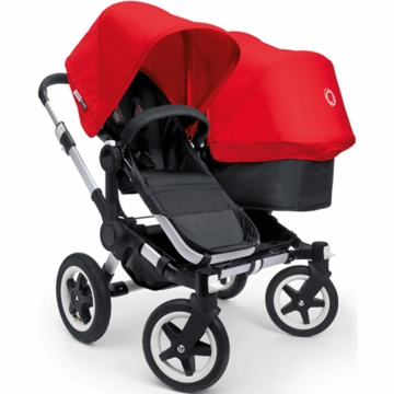 Bugaboo Donkey Duo Stroller in Black/Red