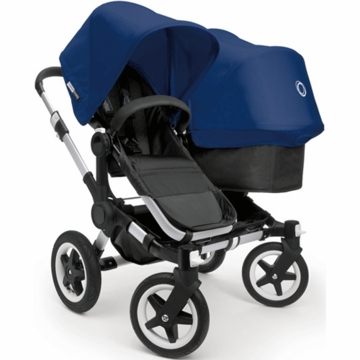 Bugaboo Donkey Duo Stroller in Black/Royal Blue