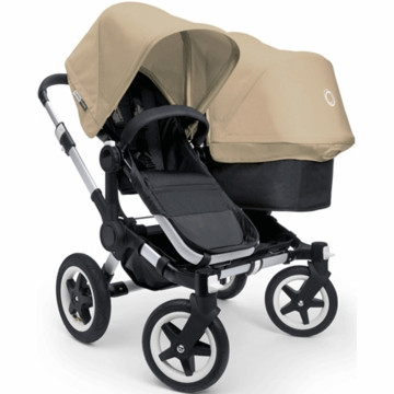Bugaboo Donkey Duo Stroller in Black/Sand