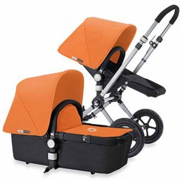 Bugaboo Cameleon Plus - Grey Base / Tangerine Fabric