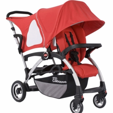 Joovy Ergo Caboose Deluxe Fleece Package in Red