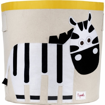 3 Sprouts Storage Bin in Zebra White & Black