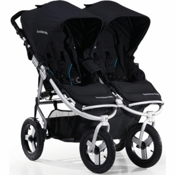 "Bumbleride 2012 Indie Twin Double All Terrain Stroller with 12"" Tires in Jet"
