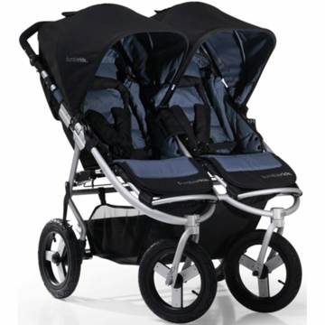 "Bumbleride 2012 Indie Twin Double All Terrain Stroller with 12"" Tires in Lava"