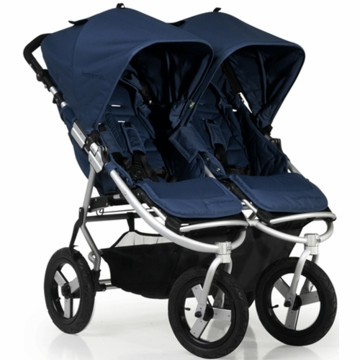 "Bumbleride 2012 Indie Twin Double All Terrain Stroller with 12"" Tires in Ocean"