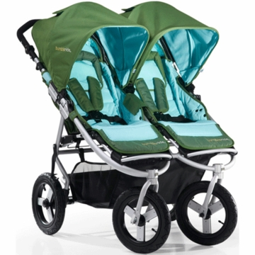Bumbleride 2012 Indie Twin Double All Terrain Stroller with 12' Tires in Seagrass