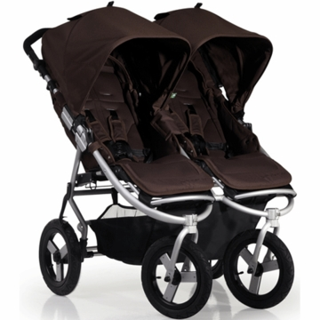 "Bumblerride 2012 Indie Twin Double All Terrain Stroller with 12"" Tires in Walnut"
