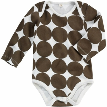 DwellStudio Chocolate Dots Long Sleeve Bodysuit 6-12 Months