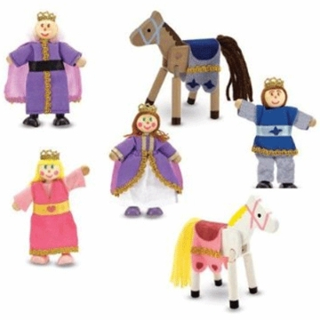 Melissa & Doug Royal Family Wooden Doll Set