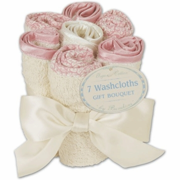 Bumkins Organic Cotton Washcloth Bouquet Set in Rose