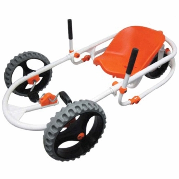 The YBIKE Explorer Go-Kart in White/Orange