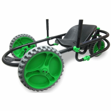 The YBIKE Explorer Go-Kart in Black/Green