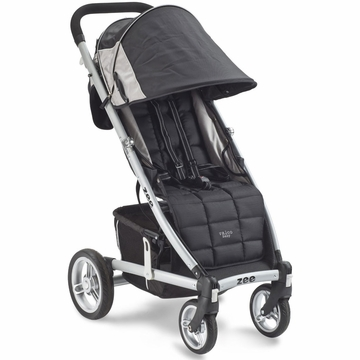 Valco Zee Single Stroller - Jet Black with FREE Travel Bag