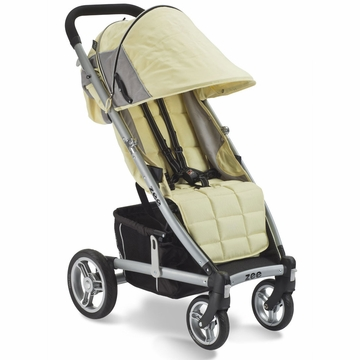 Valco Zee Single Stroller - Citrine Yellow with FREE Travel Bag