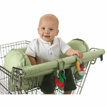 Leachco Prop 'R Shopper Shopping Cart Cover in Sage Pin Dot